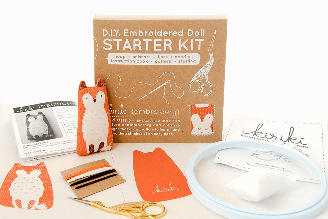 Embroidery for beginners kit makaroka