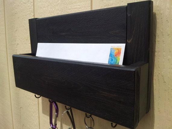 Mail and key holder key rack key hooks rustic by cedaroaks - Mail holder and key rack ...