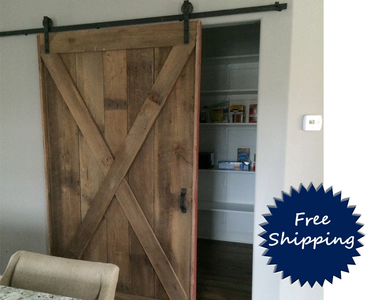x brace barn door room divider made to order from reclaimed. Black Bedroom Furniture Sets. Home Design Ideas