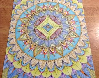 Meditation Mandala Original Artwork Print