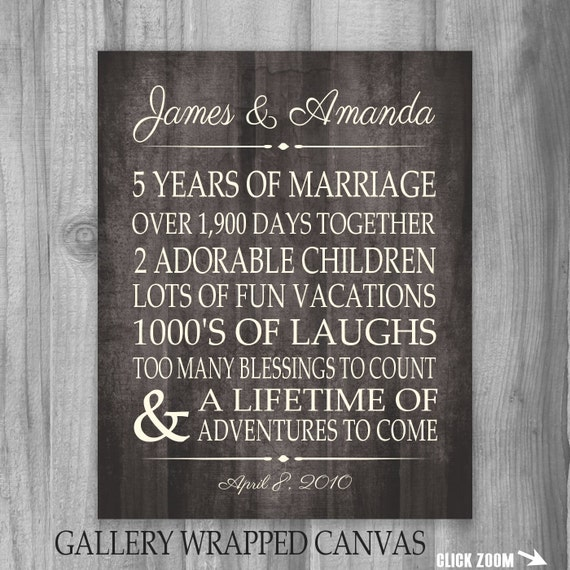 5 Year Wedding Anniversary Gift Ideas Wood : Year Anniversary 5th Anniversary Gift for Spouse Personalized ...