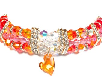 Mango Tango Swarovski Pet Necklace