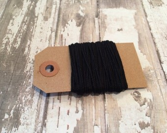 10 Yards of Solid Black Baker's Twine