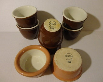 Custard Cups - Lot of 8 - Hall Custard Cups Numbers 352 and 366 - Made in the USA