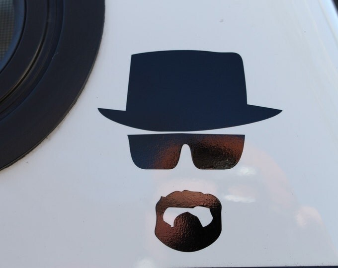 Walt decal, Cook decal, Cook sticker, bad sticker, bad decal, walt vinyl decal, walt vinyl sticker, breaking decal, I am the danger