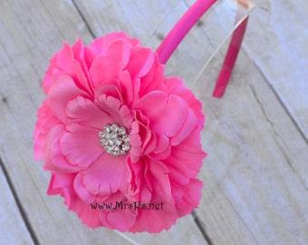 Pink Flower Headband Pink flower headband baby big girl headband