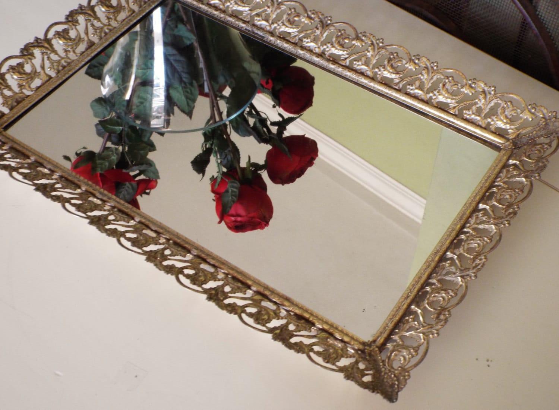 Vintage mirror tray