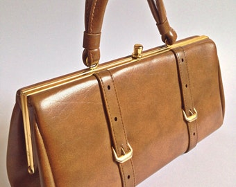 Vintage 'Chamelle by Essell' Tan Handbag, 50's/60's