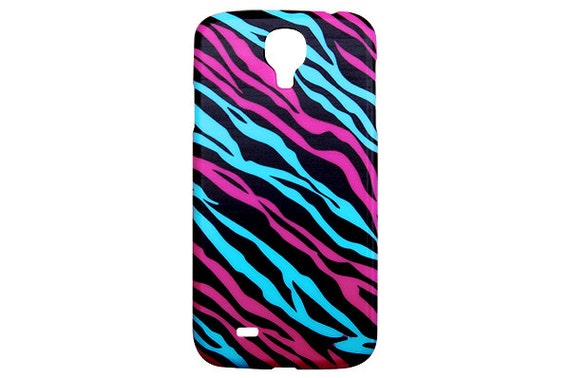 New Multi Color Teal Hot Pink Zebra Print Slim Fashion Phone Case for ...