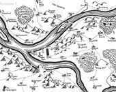 Fantasy map of Pittsburgh