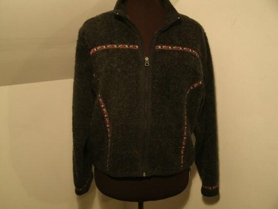Ll Bean Sweater Fleece Coat Aztec Sweater Dress