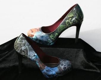 Cthulhu Heels Cthulhu Shoes Lovecraft SciFi Heels Science Fiction Monster Heels Literature Heels Literature Shoes Book Heels Book Shoes