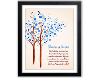 Grandparents Day - Gift For Grandparents - Personalized Family  Gift - Family Tree - Gifts From Grandkids -  Gift For Parents