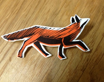 The Fox - Illustrated Brooch