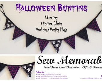 Halloween Bunting (small sized Flags)
