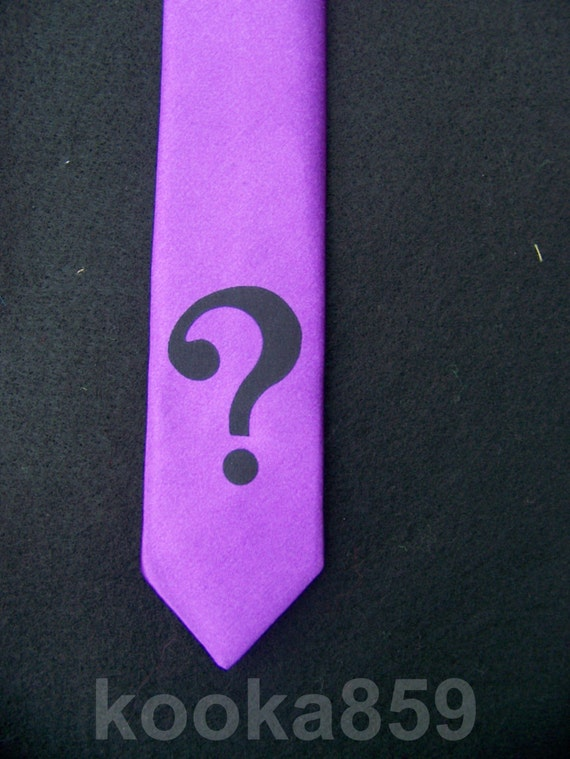 riddler inspired purple tie with by costumecrazycosplay