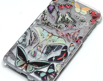 Butterfly Collection Butterflies iphone Case, Transparent, Clear Phone Case, iPhone 6, iphone 6 plus, iphone 7, iphone 7 plus, iphone 5