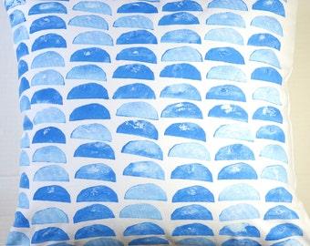 Hand Printed Pillow Cover, Original Design