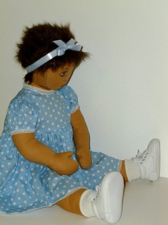 Large Cloth Baby Doll Handmade Fabric Doll By