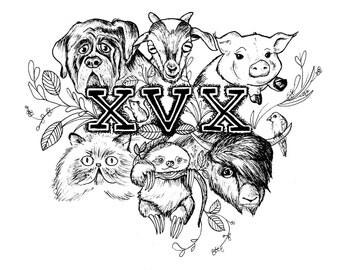 XVX Vegan Straight Edge Print