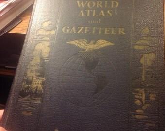 Vintage Collier's World Atlas and Gazetteer
