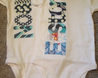 Personalized Baby Boy Bodysuit
