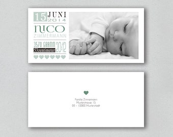 Birth Announcements - elegance (boy)