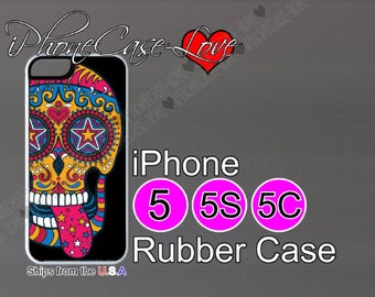iphone 5 case - iphone 5s case - iphone 5c case -  sugar skull iphone 5 case - sugar skull iphone 5s case  - sugar skull iphone 5c case - S5