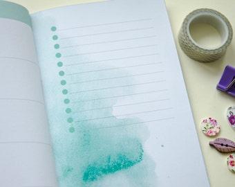 Seasons Planner • 15 weeks of beautiful watercolor • Undated • Midori Regular Size
