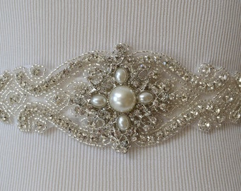 Wedding Belt, Bridal Belt, Sash Belt, Crystal Rhinestone