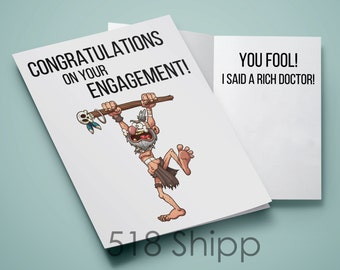 Engagement Card - Rich Doctor - Wedding Marriage Fiancé Bride Groom