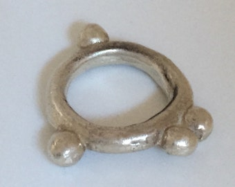 sterling silver ring with spheres