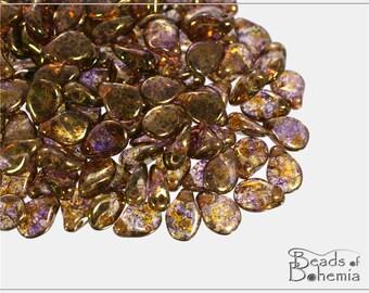 60 pcs Crystal Violet/Brown Senegal Czech Preciosa PIP Beads 5x7 mm (9397)