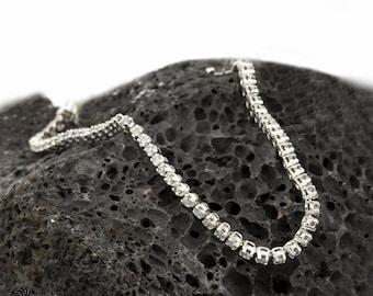 Diamond Tennis Bracelet, White Gold Bracelet, Diamond Tennis Bracelet, Anniversary Gift, Graduation Gift,Round Diamond Bracelet   BR01174