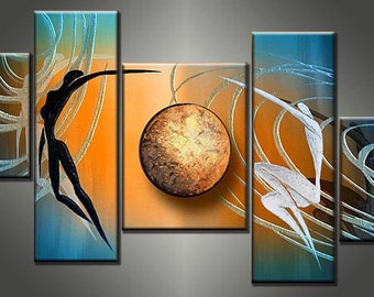 Flying in universe - 5 panel Canvas Painting GP104