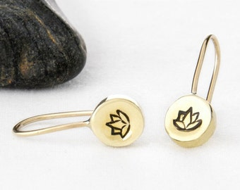 Lotus Earrings, Lotus Flower Earrings, Lotus Jewelry, Lotus Flower Jewelry, Lotus Flower, Yoga Earrings, Lotus, Yoga Jewelry, e247b