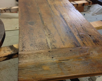 Reclaimed Wood Dining Table Top,bar,kitchen Island, Wood Desk Top, ADD