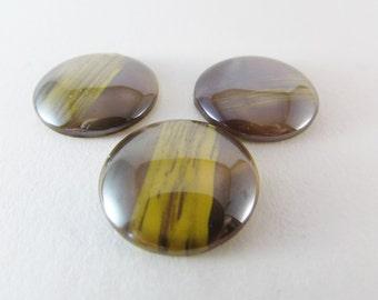 D-00026 - 3 Cabochons Glass 25mm