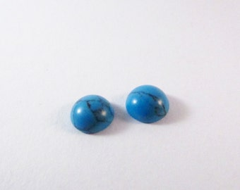 D-00149 - 2 cabochons Turquoise 8mm