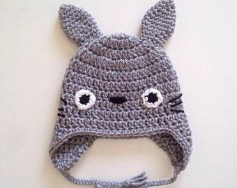 Crochet Totoro Hat (newborn-child size) / Studio Ghibli / My neighbor Totoro / Miyazaki / Beanie