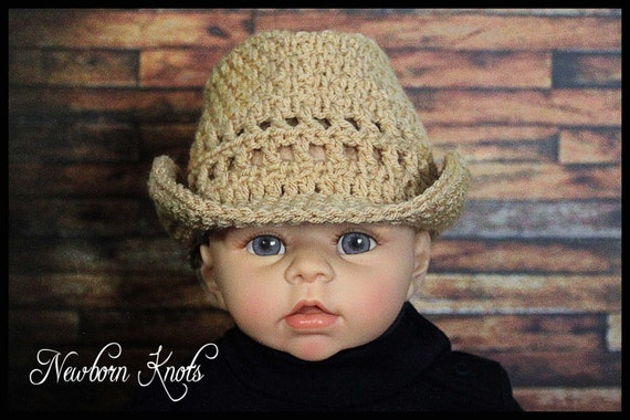 Crochet Raffia Cowboy Hat Pattern : CROCHET PATTERN Straw Look Baby Cowboy Hat. Pattern number ...