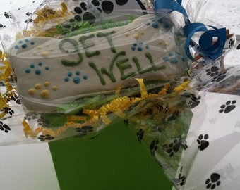 Gift Basket for Dogs//Get Well Gift Basket for Dogs with Homemade Gourmet Dog Treats