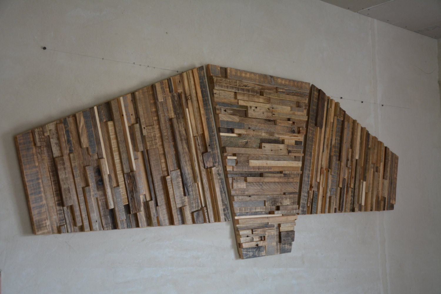 Large Reclaimed Wood Wall Art 84 X 30 X
