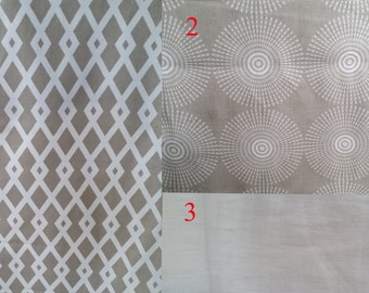 Designer Custom Dog Crate Cover in Khaki/Natural Coordinates, Front Opening