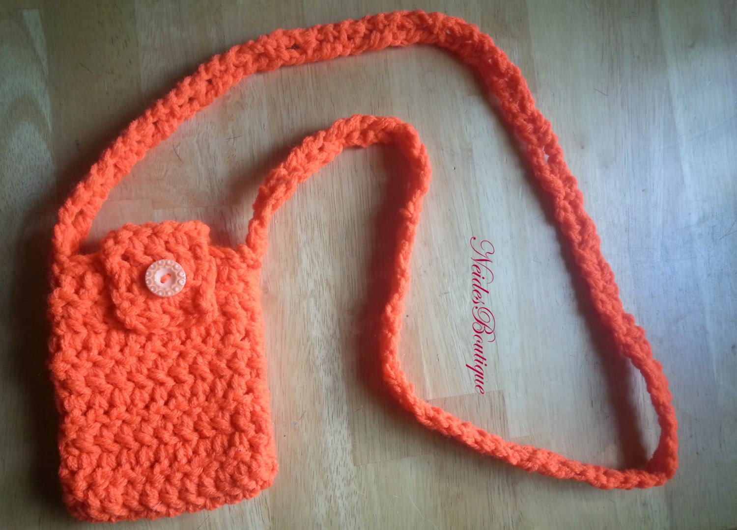 Crochet Cell Phone Purse : Crochet phone case cross body purse cell phone by NeidesBoutique