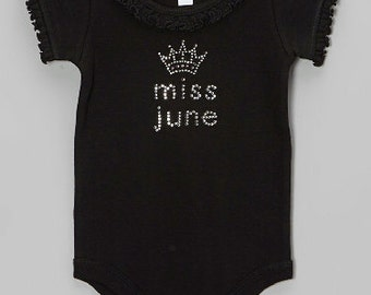 Miss Month Black Ruffle Bodysuit