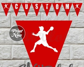 Dodgeball Banner, Instant Download