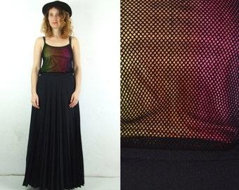 90's vintage women's colorful net top