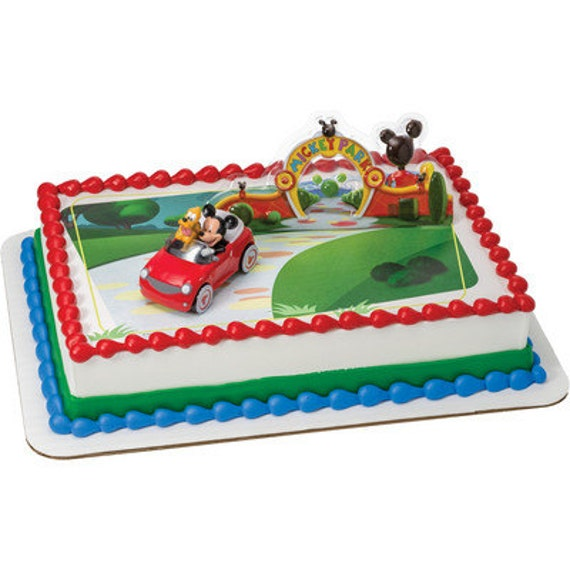 Walmart Mickey Mouse Smash Cake: Mickey Mouse And Pluto Background Edible Image By