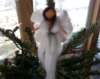 Needle Felted Wool Angel Large